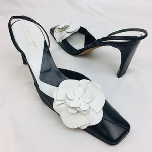 Kate Spade Floral Black And White Heels 9 B